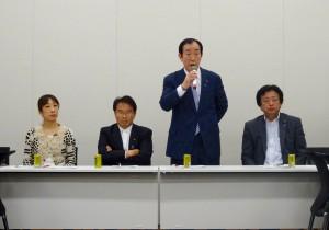 髙木本部長から挨拶。