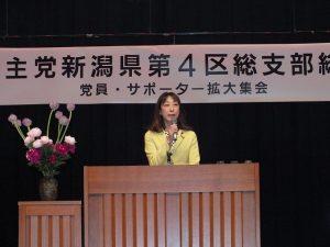 民主党新潟県第4区総支部総会を開催
