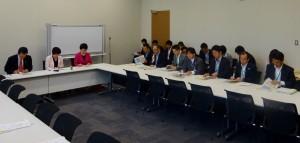 文部科学部門会議では、教育再生実行会議第7次提言について文科省から説明を受けました。