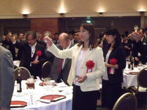 夕方、いったん地元に戻り、県麺類飲食業生活衛生同業組合総会に出席。