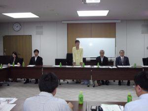 民主党新潟県連の常任幹事会にて挨拶をしました。