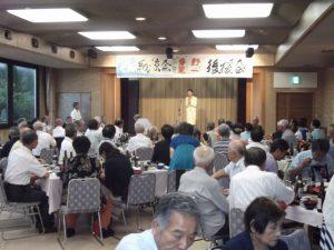 青野寛一新潟市議講演会の納涼会にて、ご挨拶をさせて頂きました。