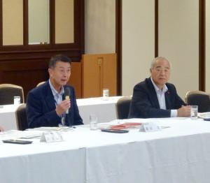 篠田市長、高橋議長が上京され、ご説明をいただきました。