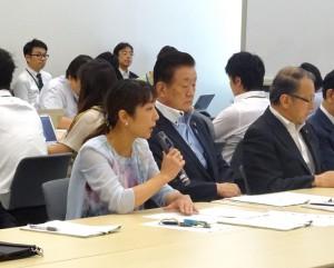 新国立競技場の問題について党の会合が開かれました。