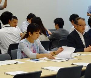 見直しすることによる国際的な信用問題、ザハ氏側への対応等について文科省とJSCに質問しました。