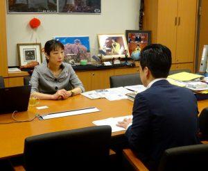 参議院の選挙制度改革についてマスコミから取材を受けました。