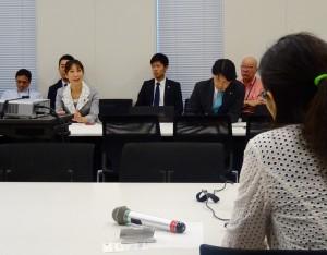 主権者教育WTでは、Pacific21代表横江さんからアメリカの主権者教育についてヒアリング