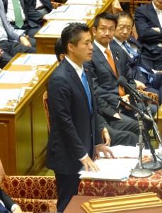 細野政調会長が岡田代表に続いて質問に立ちました。