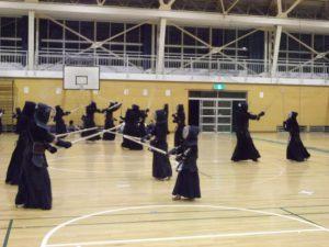 日本武道館で行われる全日本少年少女剣道錬成大会の壮行会に参加しました。