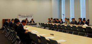 文科省、JSCに加え、内閣官房、国交省も出席。