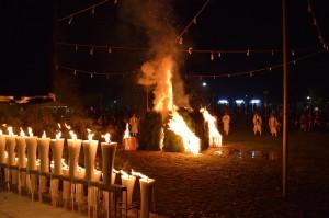 栃尾に移動して秋葉の火祭りに出席