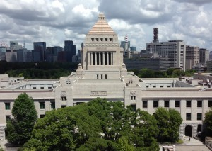 議員会館から見た国会議事堂