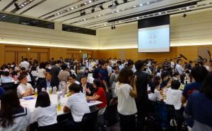 大勢の参加者で一杯の会場は熱気に溢れていました。