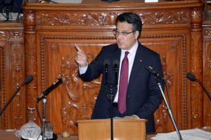 岡田代表による賛成討論。