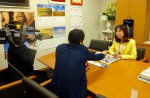 地元テレビ局の取材を受けました。