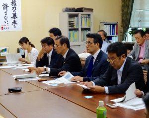 岡田代表、枝野幹事長も出席。