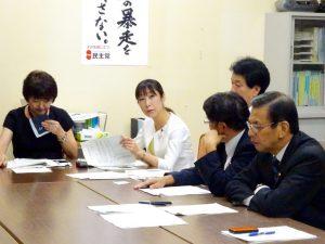 台風18号災害対策本部会合において新潟県の被災状況を報告しました。
