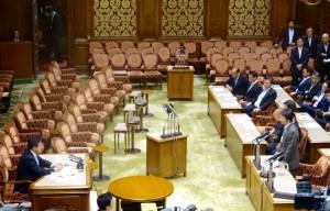 参議院安保特別委員会での鴻池委員長不信任動議。民主党大塚議員による賛成討論。