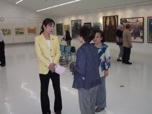 三条東公民館で開催されている朱陽会展へお邪魔しました。