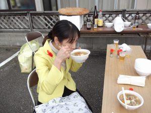 自治会のお祭りでとん汁を頂きました。