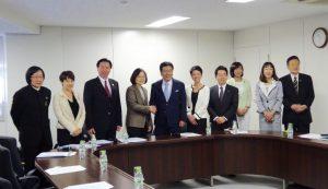 訪日中の台湾・民進党蔡英文主席が民主党を表敬訪問。