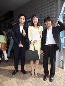昨年の大河ドラマ「軍師官兵衛」にも出演された、主演の植木祥平さん(左側)と写真を撮らせて頂きました。