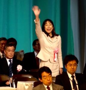 NHKホールで開かれた商工会全国大会に出席。