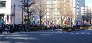 安保法廃止を訴える大勢の市民が議員会館前に集まっていました。