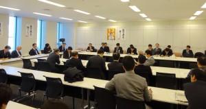 民主・維新 経済連携調査会合同会議。
