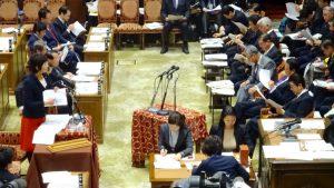 衆議院予算委員会。質問者は新潟1区の西村智奈美代議士!