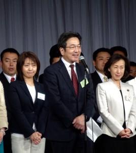 参院選長野選挙区公認内定者杉尾秀哉元TBSキャスター。