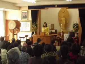 午前 立正佼成会長岡教会でご挨拶させて頂きました