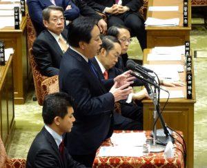 予算委員会で野田前総理が質問に立ちました。