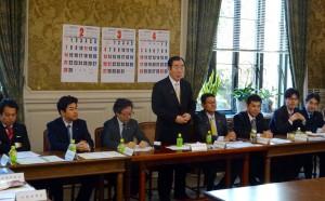髙木国対委員長の挨拶。