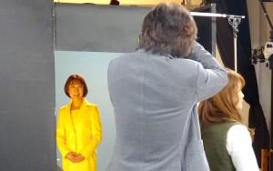 最初の選挙から世話になっているスタジオで写真撮影