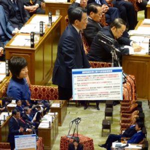 衆議院予算委員会集中審議。岡田代表の質問。