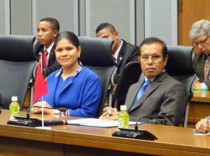 東ティモール民主共和国タウル・マタン・ルアク大統領夫妻。