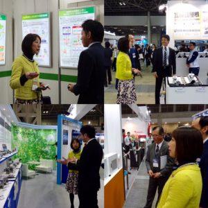東京ビッグサイトで開催中のスマートエネルギーWeek2016。新潟から出展している企業を激励!