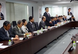 民主党役員会、常任幹事会が開かれました。