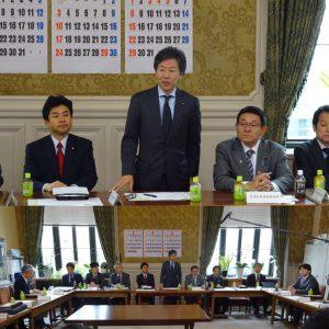 民進党として初めての国対役員・筆頭理事合同会議。