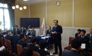 髙木国対委員長挨拶。
