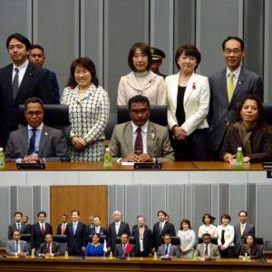 東ティモール議連で、東ティモール民主共和国大統領夫妻をお迎えしました。