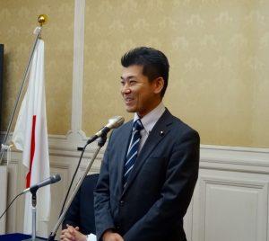 4月の衆院京都3区補選に立候補する泉けんた代議士の決意表明。