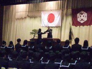 母校加茂高校の卒業式に出席しました