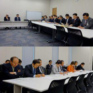 朝は、文部科学部門会議が開かれました。