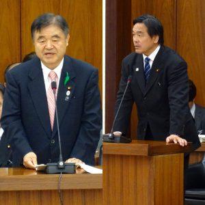 遠藤、馳両大臣の答弁。