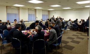 全国農業委員会会長大会が開かれ、上京された新潟県内農業委員会会長の皆さんと県選出国会議員による農政懇談会。