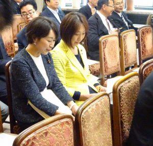 GWが明け、国会も本格的に再開されました。代議士会にて山尾政調会長と。