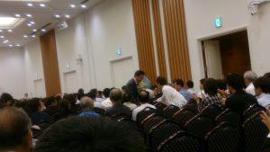 舞の海さん、相撲の歴史を分かりやすく解説され、ユーモアあふれるスピーチに拍手が止みませんでした。