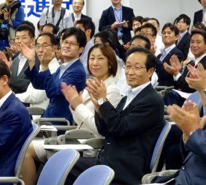 参院選で新たに当選された新人議員を全議員で祝福。